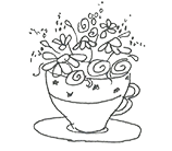 Cup Drawing Design